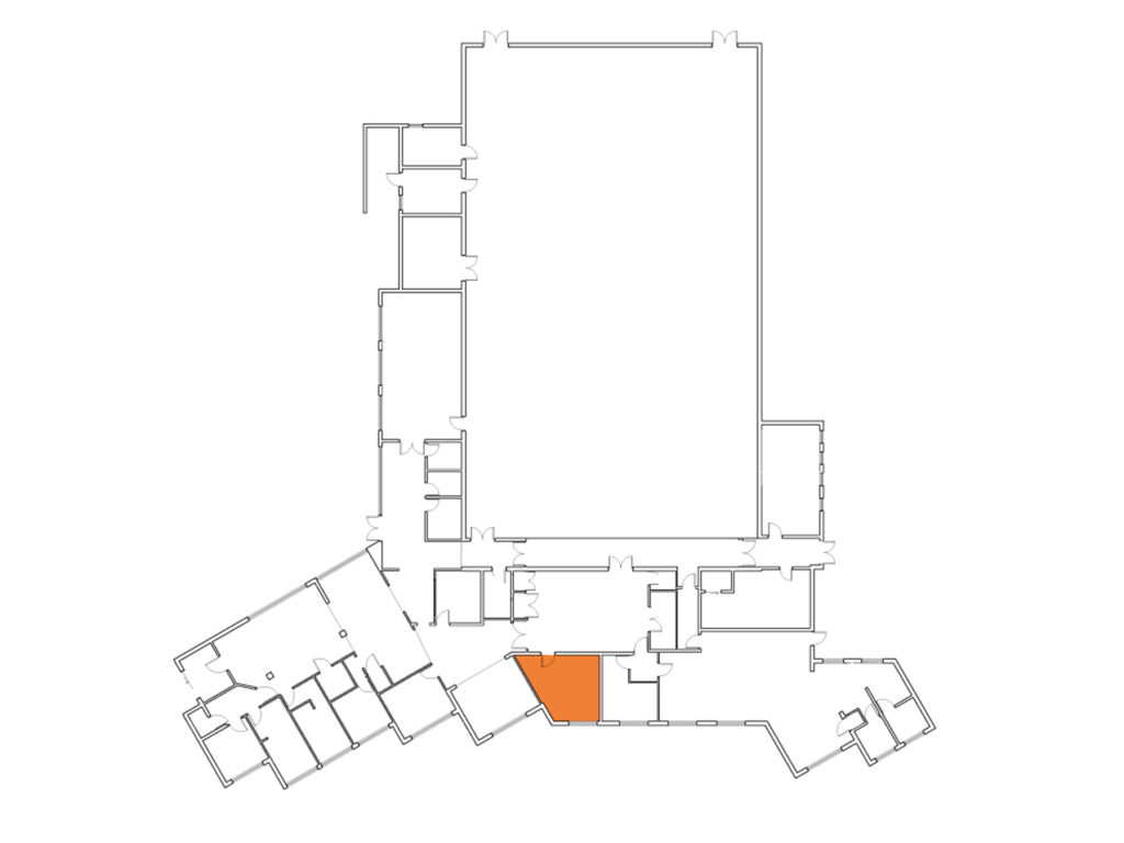 A map showing where the Brereton Room is in the Centre