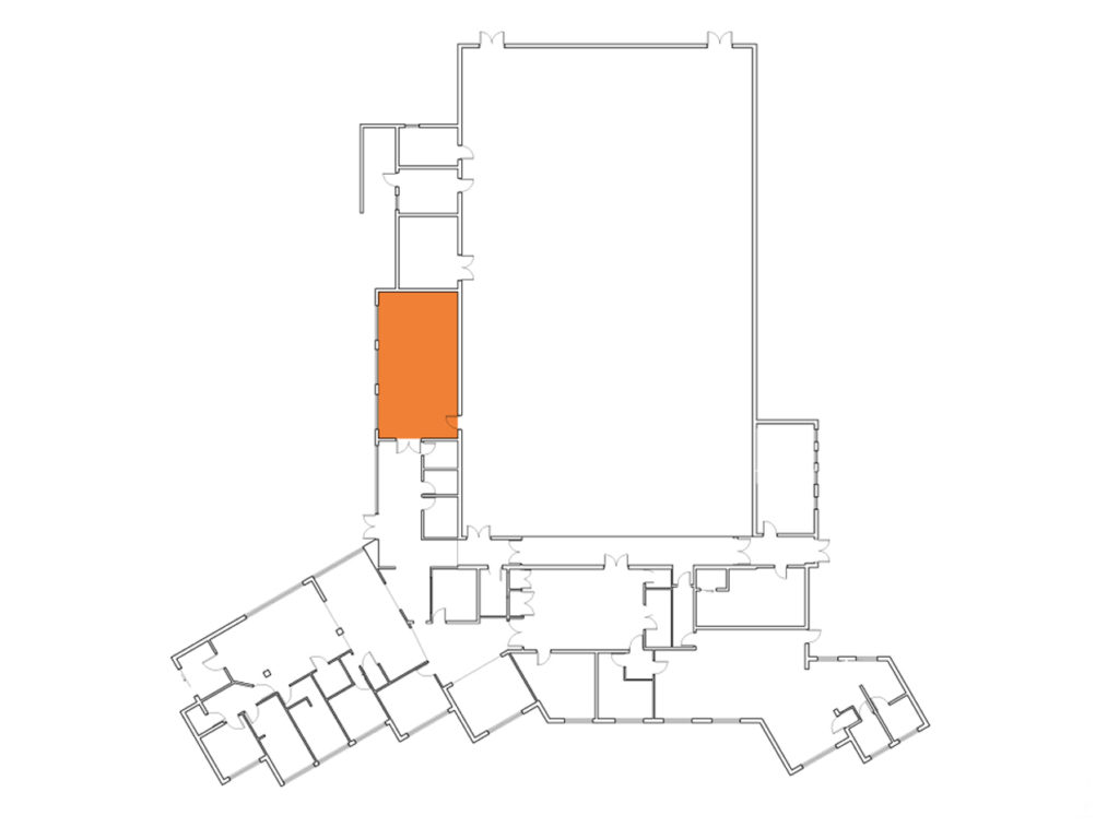 A Map showing where the Pear Tree Room is in the Centre