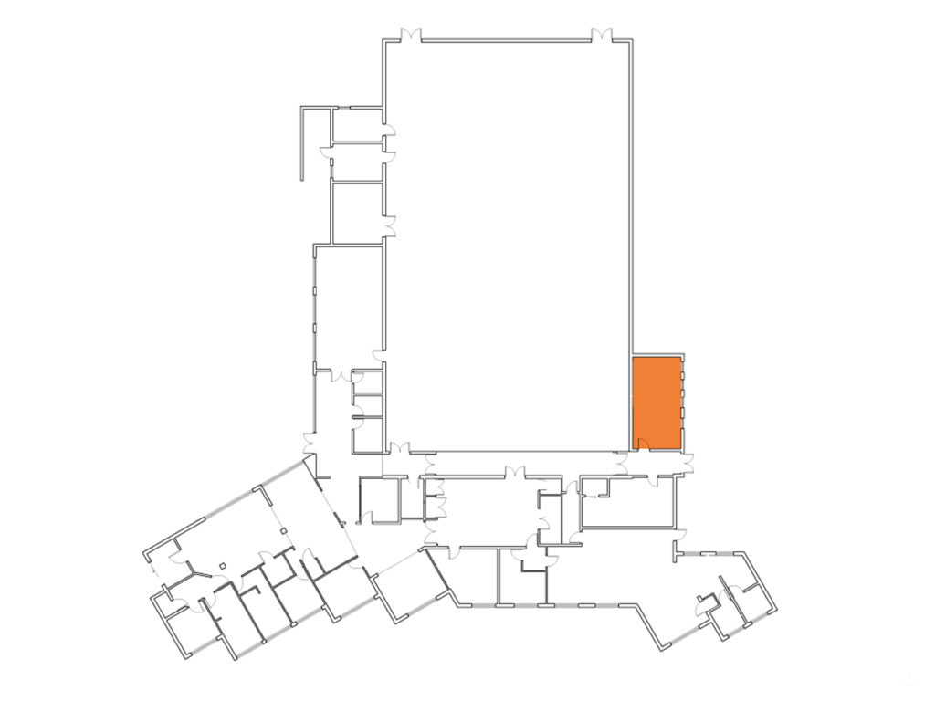 A map showing where the Talbot Room is in the Centre
