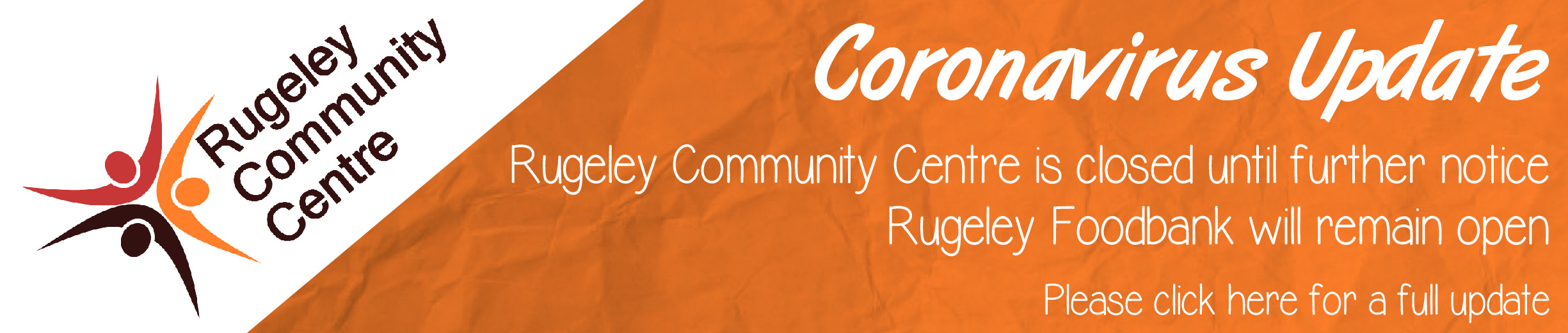 Rugeley Community Church/Centre Coronavirus Update - Click for more information